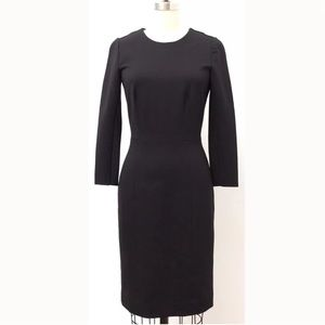 J. Crew Black Structured Knit Exposed Zip Dress